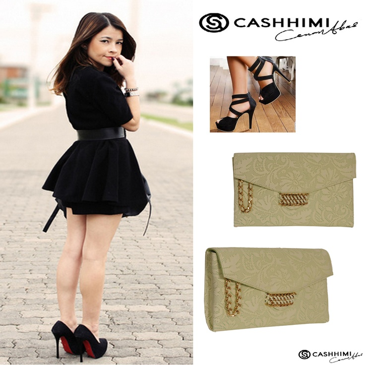 Cashhimi Brown BEVERLY Leather Clutch