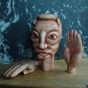 i've started the creation of a new #puppet show, so it's time to review some of the puppets and remember methods used on similar #wood projects from a few years ago (2012)