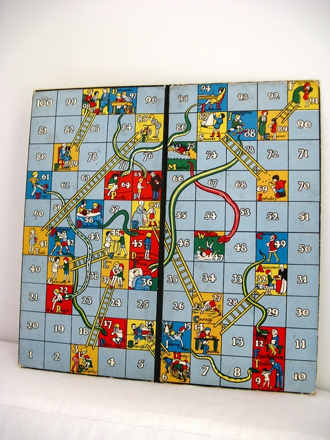 Snakes and Ladders. I had this game and played it all the time with my mom and brother.
