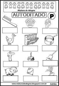 autoditado com a letra P para imprimir                              …
