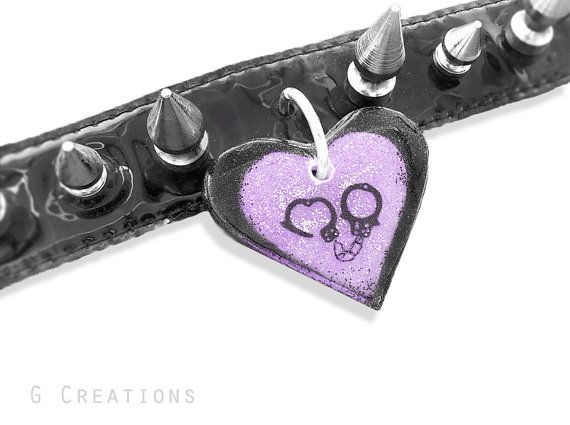 Pet Heart Tag Pendant  Glow in the DARK by GabriellesCreations
