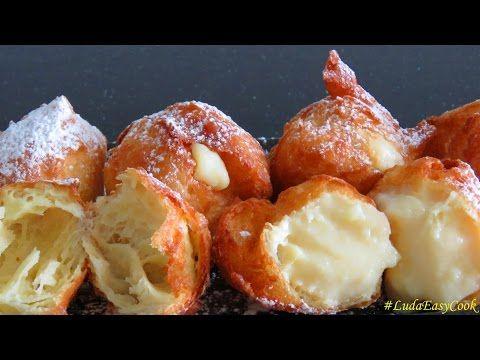 Французские ПОНЧИКИ из заварного теста - Homemade Beignets choux bánh Quảy tròn BÁNH Su KEM Chiên - YouTube
