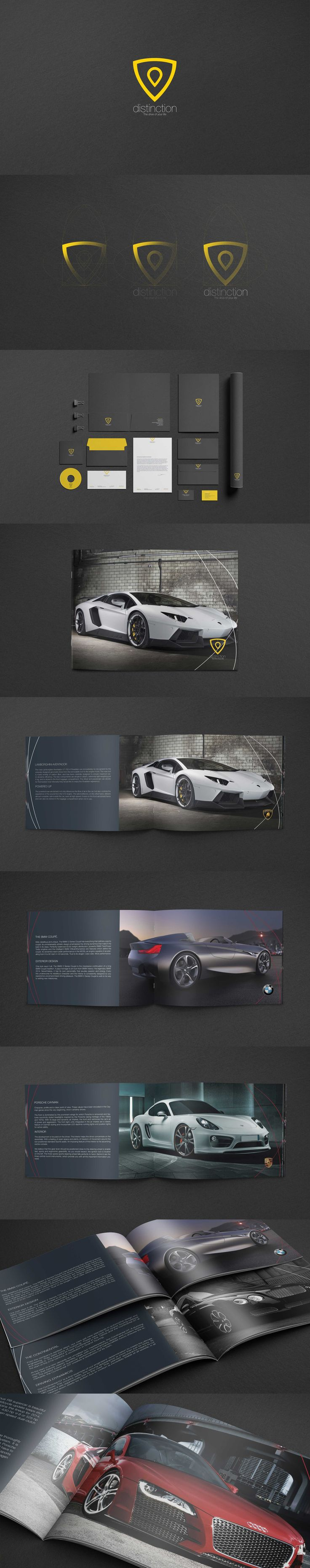 Distinction cars brand id, luxurious brochure & quality stationery. design | corporate id | stationery | print project date: 2010