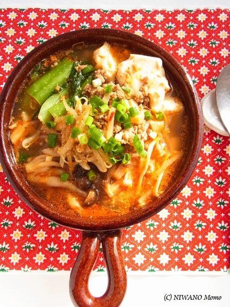 坦々風ピリ辛ごまの豆腐チゲ by 庭乃桃 | レシピサイト「Nadia | ナディア」プロの料理を無料で検索