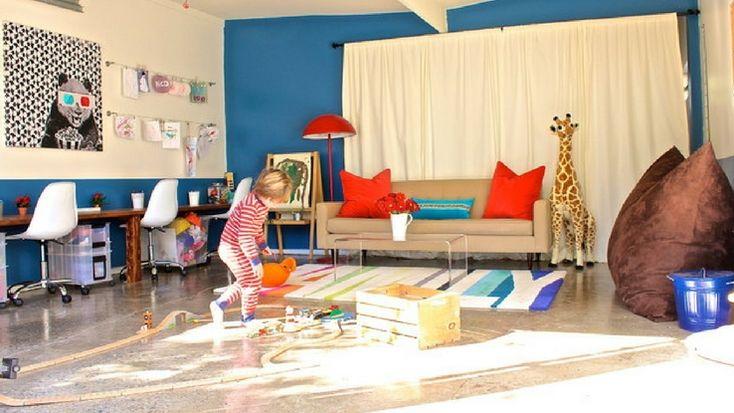 Transforming a Garage into a Playroom #garage #playroom #idea #transform