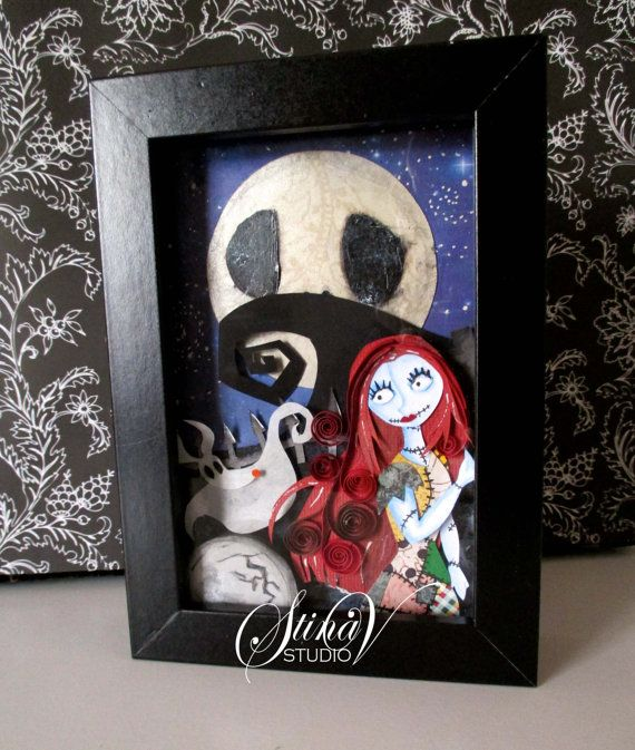 Sally and Zero Nightmare Before Christmas Paper by StinaVStudio #papersculpt #papercut #art #nightmarebeforechristmas #sally #zero