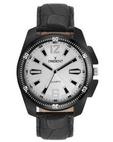 Trident Portsmouth watch - looking smart has never been so easy! See more of this look at http://mytrident.co.za/products/portsmouth-mens and get it now with http://www.zando.co.za/Trident-Portsmouth-Mens-Watch-White-Dial-Black-Leather-121247.html