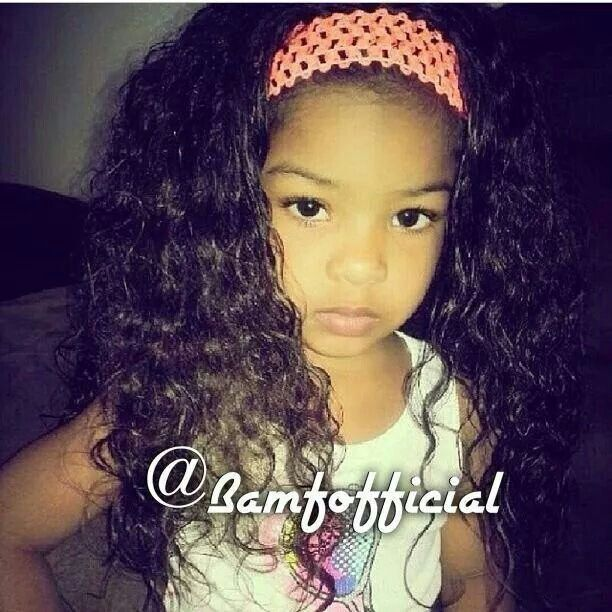 Cute Mixed Little Girls With Swag And Curly Hair Www