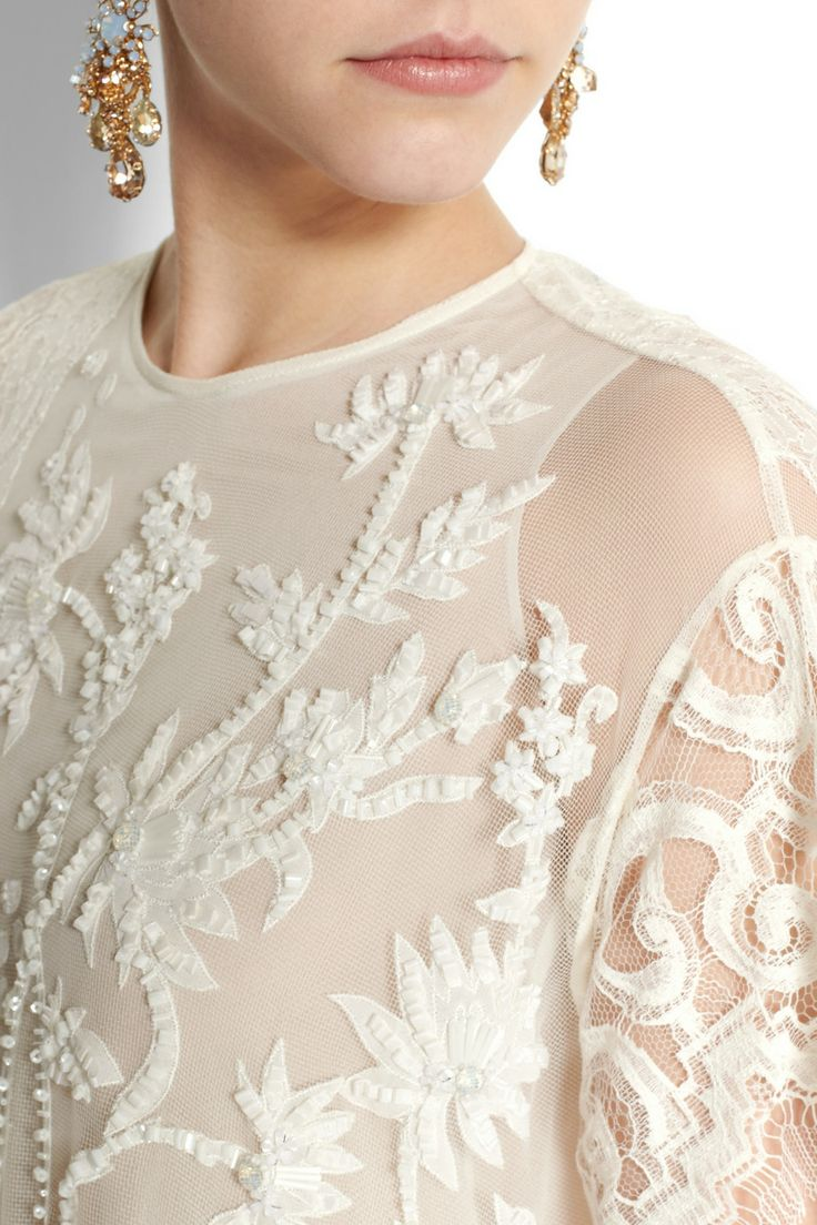 Biyan|Akira floral-appliquéd tulle and lace gown|NET-A-PORTER.COM