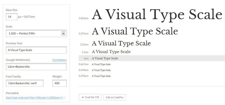 Type Scale is a tool that you can use to find the perfect font scaling for your website.