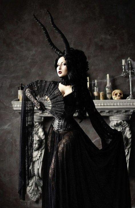 Dark gothic witch girls something