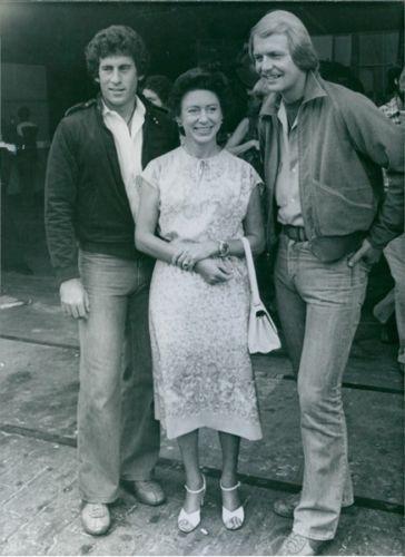 Princess Margaret visits Starsky (Paul Michael Glaser) and Hutch (David Soul) in 1978
