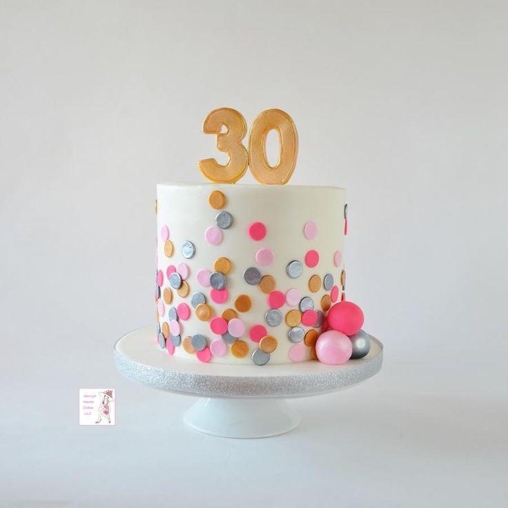 Polka Dot Birthday Cake by Jenny Kennedy Jenny's Haute Cakes