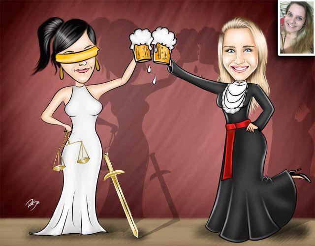 Caricaturas digitais, desenhos animados, ilustração, caricatura realista: Desenho de formanda de Direito !!