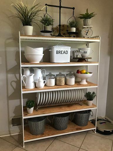 DIY IKEA Shelving Unit - Farmhouse Kitchen Makeover