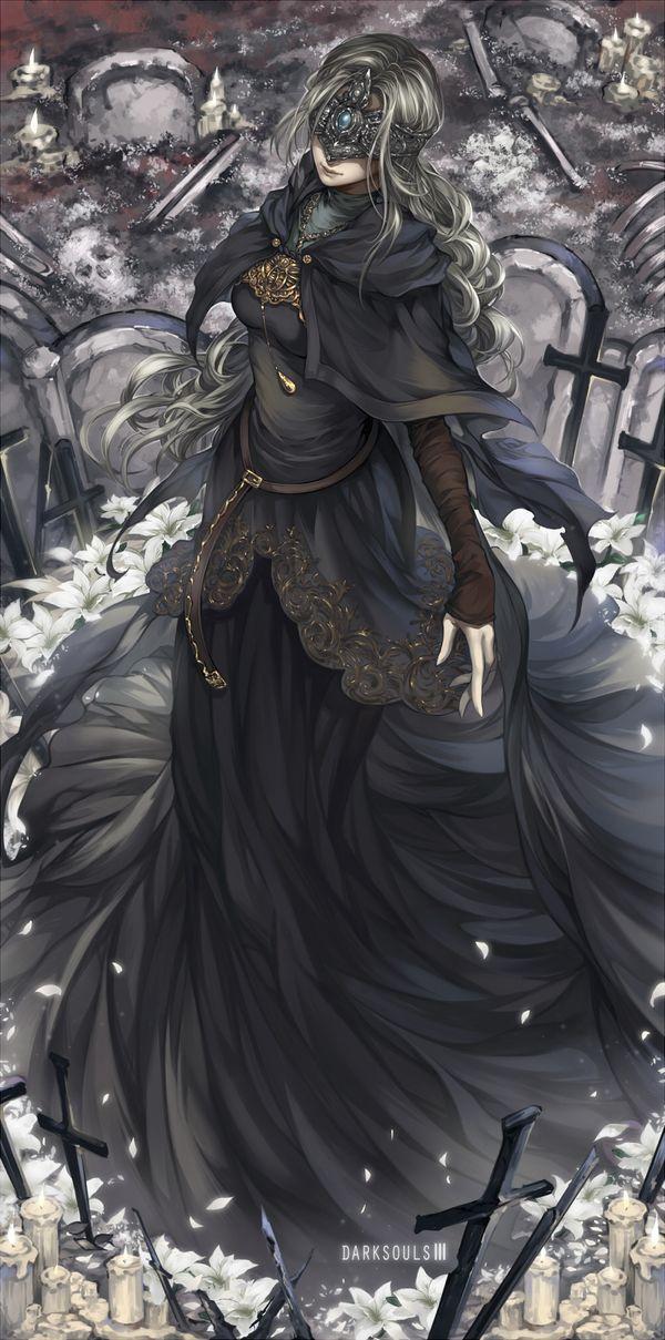 Fire Keeper арт, Игры, dark souls, Dark Souls 3