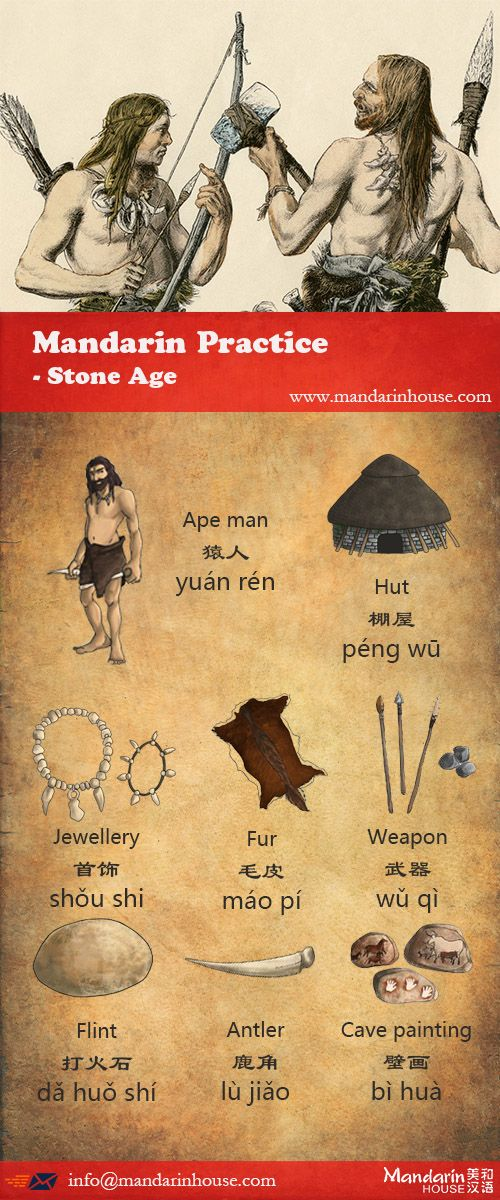 Stone Age in Chinese.For more info please contact: bodi.li@mandarinhouse.cn The best Mandarin School in China.