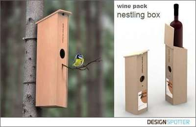 wijn box nestkastje