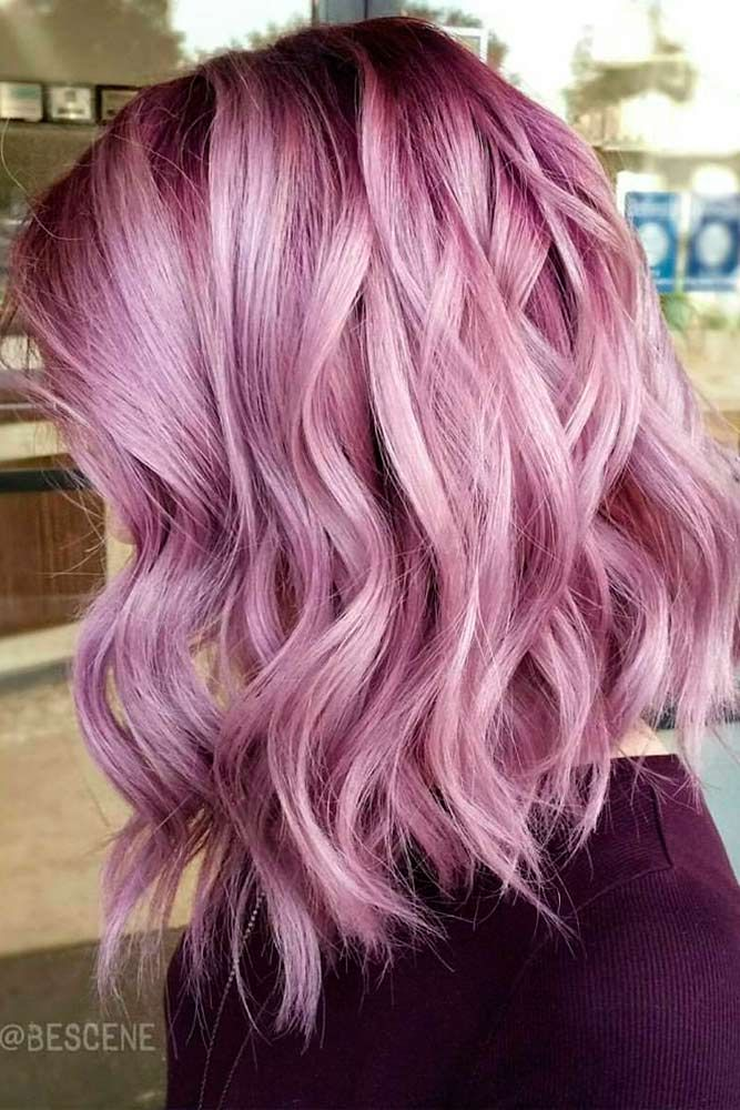 beautiful pink hair highlights