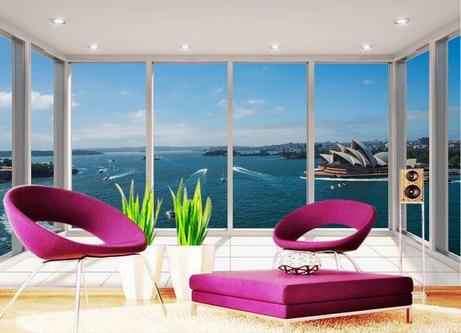 les 56 meilleures images du tableau papier peint 3d paysage sur pinterest. Black Bedroom Furniture Sets. Home Design Ideas