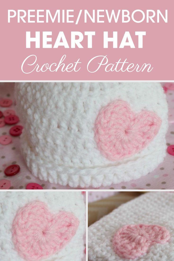 aa47a5112a70 What a precious preemie newborn heart hats pattern ! This hat is ...