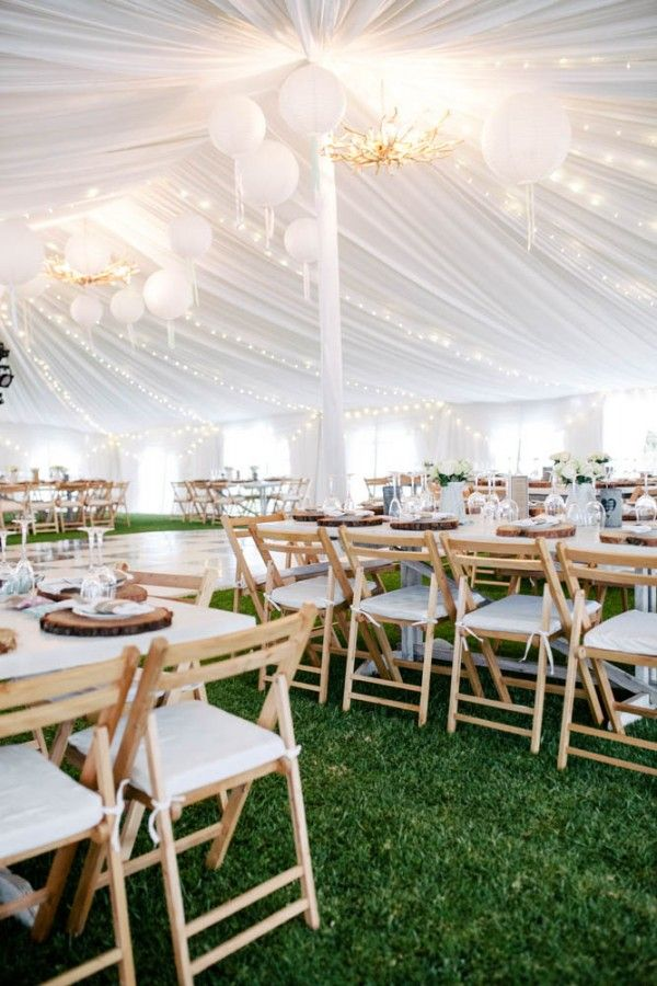 White tent, white lanterns, green grass | Vanilla Photography