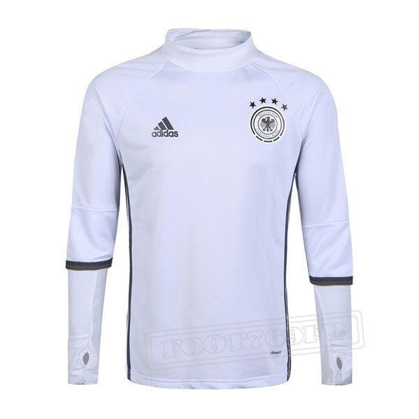 Promo:Le Meilleur Du Nouveau Training Sweatshirt Allemagne Blanc 2016 2017 Slim Personnalise