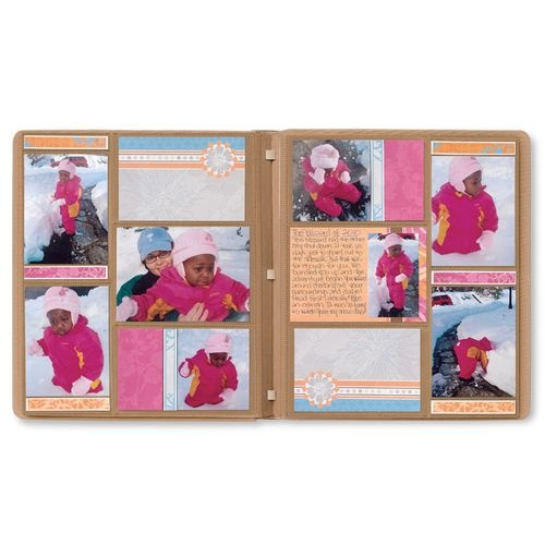 Anyone can create a beautiful album quickly with Picfolio albums and accents.  Everything slides in the pockets and you are done!  #scrapbooking