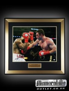 Beautifully framed Vitali Klitschko signed large photo  The item has full online authentics certification for his signature and can be viewed on their website. Has online authentics sticker and authentication card along with our COA