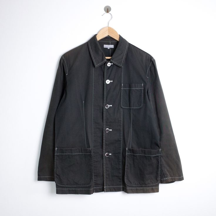 """Buy Comme des Garcons Vintage CDG Homme Chore Jacket, Size: S, Description: Vintage COMME des GARÇONS Homme Chore Jacket in dark brown. Super rare item from years ago. Nice fit and twill fabric. Made in Japan.  Item  Vintage COMME des GARÇONS Homme Chore Jacket Size  Small  Color  Dark Brown  Condition  8.5/10, no holes or rips  Measurements  Pit to pit  22""""  Length  29""""  Shoulder  18.5""""  Sleeve  24""""  Ships out the next day with tracking*  supreme box logo panel north..."""