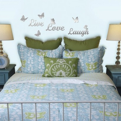 Target : Live, Love, Laugh Mirror Wall Decals   6 Pc. Set :