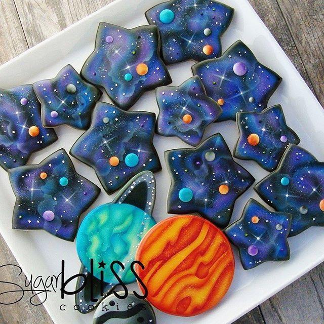 Galaxy Planet Cookies | Sugar Bliss