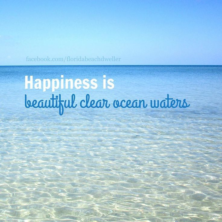 Happiness is.... beautiful clear ocean waters. Featured on FB: https://www.facebook.com/floridabeachdweller/photos/a.531535356996874.1073741828.531330783683998/647933545357054/?type=3&theater
