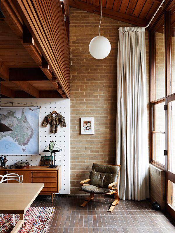 The incredible 1970's Melbourne home of Mark Dundon, proprietor of Seven Seeds, his partner Lisa Sanderson and their son Felix. Photo – Eve Wilson, production – Lucy Feagins on thedesignfiles.net