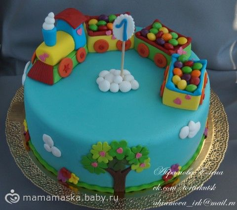 Торт на первый день рождения для мальчика фото