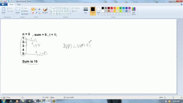 C Language in Hindi |  Print Sum of N Numbers  |  do while loop