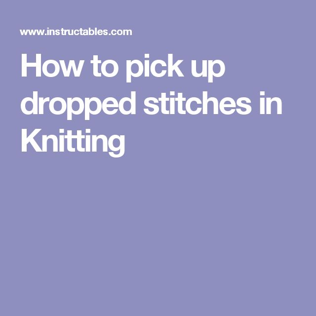 Picking Up Stitches When Knitting : 17 Best images about Knitting & Crochet on Pinterest Amigurumi tutorial...