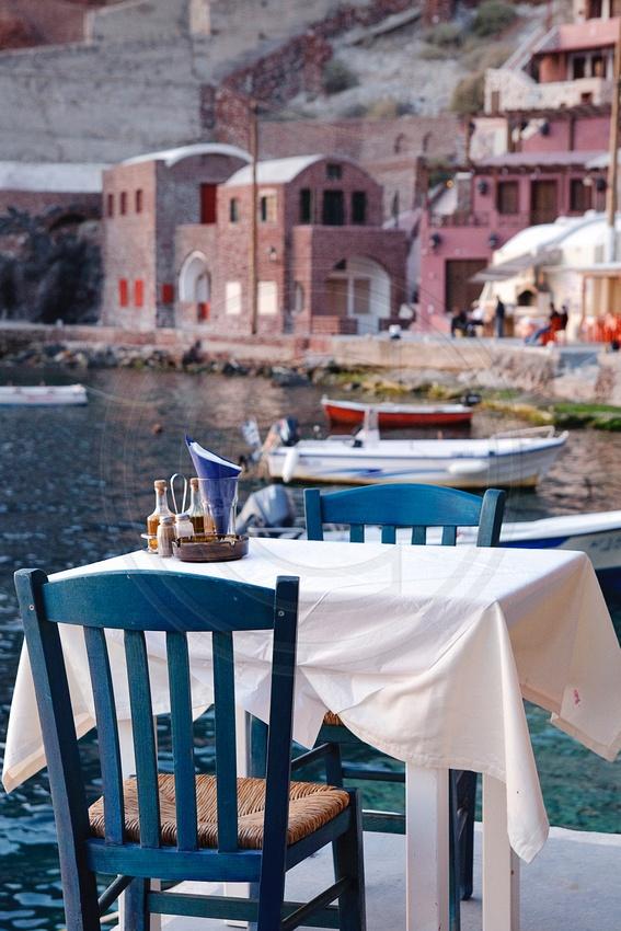 Ammoudi Port in Oia - Santorini, Greece