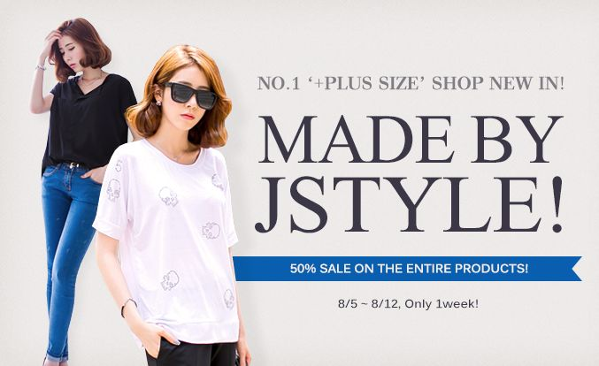 Korean shopping online shopping buy korean shop [OKDGG] [MADE BY JSTYLE!]  NO.1 PLUS SIZE SHOP NEW IN!  MADE BY JSTYLE!  50% Sale on the entire products!  8/5 ~ 8/12, Only 1week!! #koreafashionshop #koreafashion #fashion http://www.okdgg.com/