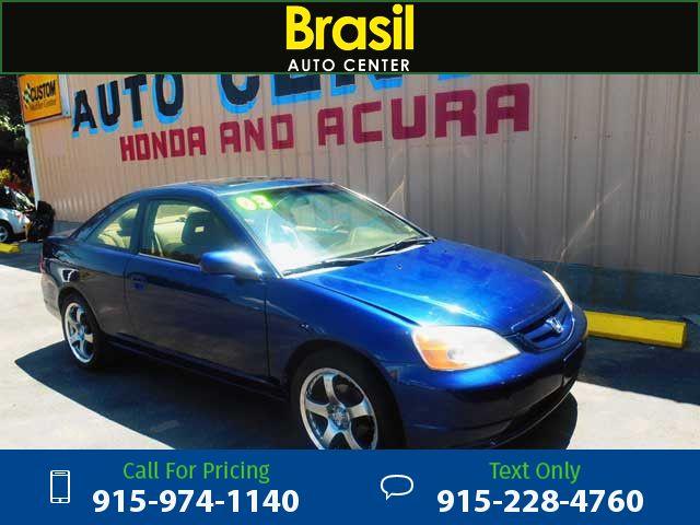 2003 Honda Civic EX Coupe 4-spd AT Blue $3,995 189598 miles 915-974-1140 Transmission: Automatic  #Honda #Civic #used #cars #BrasilAutoCenter #ElPaso #TX #tapcars
