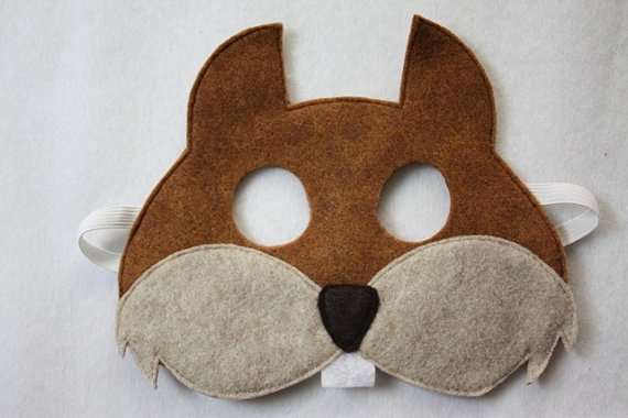 Squirrel Mask CHILD by oppositeoffar on Etsy, $14.00