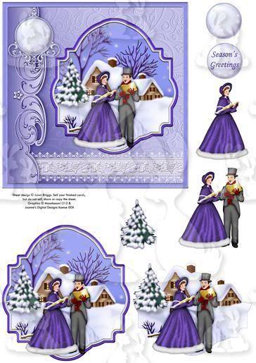 Victorian Carol Singers 3D