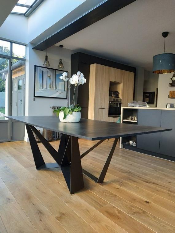 Table Table Base Metal Base Handmade Furniture Dining Etsy Mesas De Comedor Muebles De Recepcion Muebles De Acero