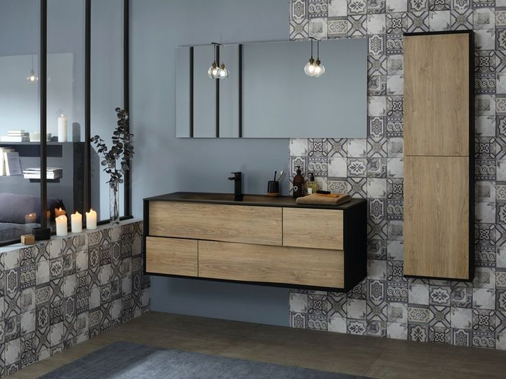Single Wall Mounted Vanity Unit With Drawers My Lodge By Sanijura In 2020 Wall Mounted Vanity Bathroom Interior Bathroom Design