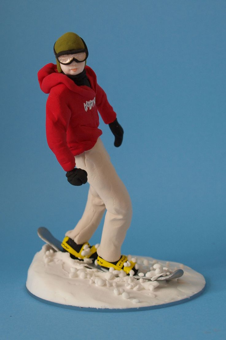 Snowboard Birthday Cake Topper