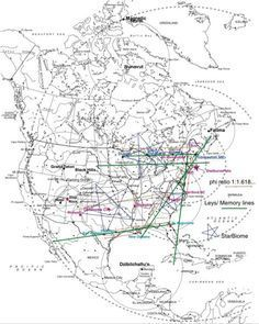 "A fairly accurate map of know North American Ley Lines . The  lines near Duluth MN. were  the first I connected with , It scared me half to death, I had no idea what I was yet . The major line running through Chippewa Falls WI  is so powerful I have to keep myself closed to it when I'm in or near the river ""the line lays on a convergence of three major rivers"" , or I become faint . It's also the reason for the rather large Witch population here. :)"