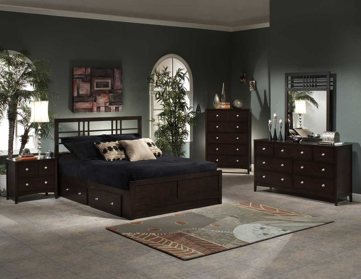 hillsdale furniture tiburon kona storage bedroom set espresso home furniture showroom