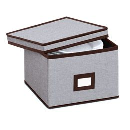 Keep The Fine China Protected In These Eco Fabric China Storage Cases From  The Container Store