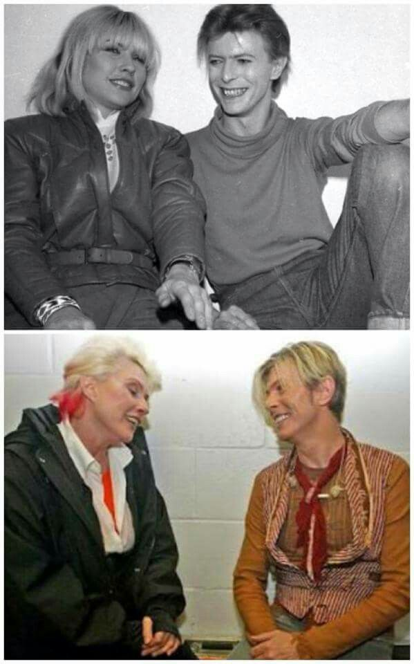Debbie Harry & David Bowie then & now