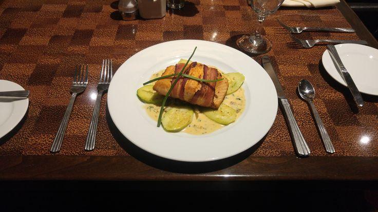 #OvertonHotel #PecanGrill #DinnerFoods #BaconWrapped #SalmonDishes #Lubbock